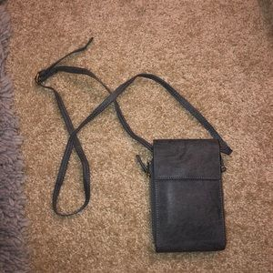 ⭐️ Grey Phone/Wallet Crossbody